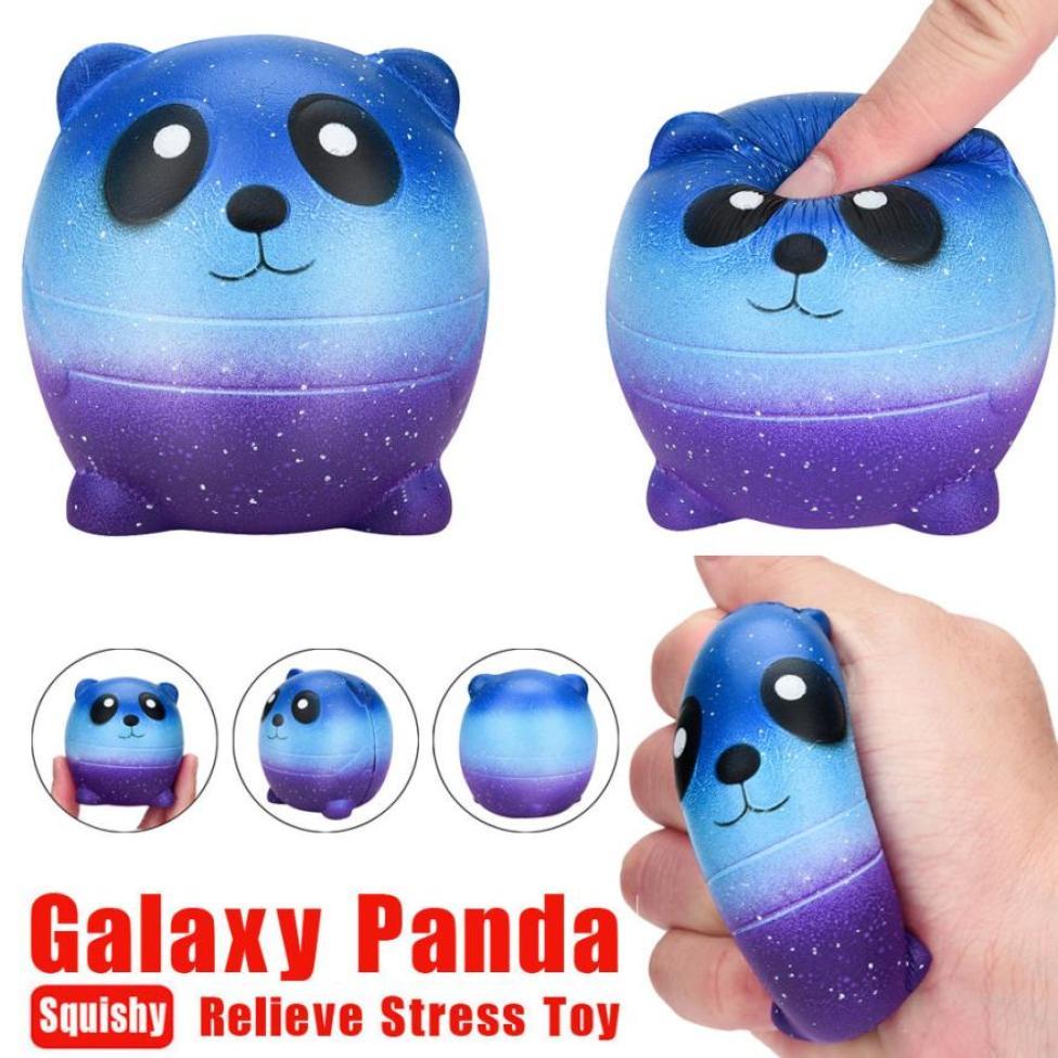 6cm Squishy Mini Cartoon Galaxy Panda Scented Charm Slow Rising Squeeze Toys kids gift Cute Gift Exquisite Fun