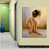 Modern Canvas Art Wall Decor Female Nude Oil Painting On Canvas Unframed Abstract Decorative Pictures Painting For Living Room