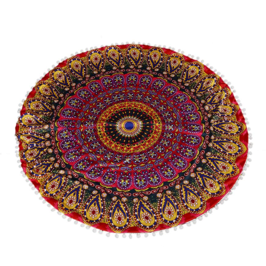 new qualified large mandala floor pillows round bohemian meditation cushion cover ottoman pouf levert dropship dig61010