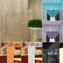 String Curtain 200 x 100cm Flash Line Shiny Tassel Strings Door Window Room Divider Glitter Valance for Home Decoration