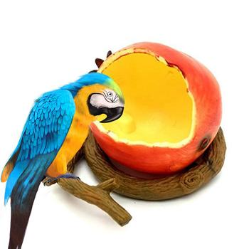 Fruit Shaped Feeding Bowl Bird Feeder For Garden Pet Feeders Food Container Drinking Bowls For Parrot Hamster Little Animals