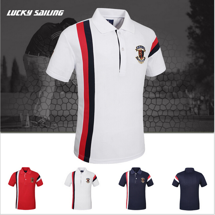 Lucky 2015 marca Hot Summer camisa de Polo del deporte
