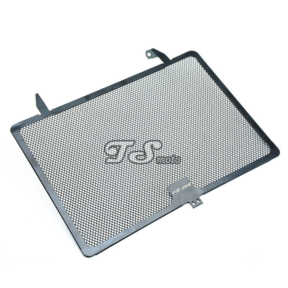 with FZ09 logo For  FZ09 FZ-09 MT-09 MT09 2013 2014 2015 Radiator Protective Cover Grill Guard Grille Protector protection for yamaha fz09 fz 09 mt 09 mt09 2013 2014 2015 motorcycle radiator protective cover grill guard grille protector protection