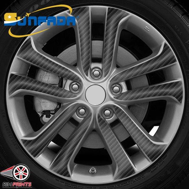 sunfada 17 inch black carbon fiber/matte black vinyl wheel rim