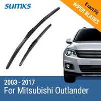 Car Wiper Blades For Mitsubishi Outlander 2012 Onwards 26 18 Rubber Front Windscreen Car Accessory Freeshipping