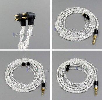 LN006126 8 core 2.5mm 3.5mm 4.4mm Pure Silver Plated OCC Earphone Cable For Etymotic ER4B ER4PT ER4S ER6I ER4