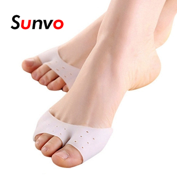 Sunvo Professional Silicone Gel Toes Separator fot Hallux Valgus Orthotic Insoles Toe Correction Cushion Forefoot Pad Inserts