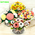 DIY Non-woven Sunflower Potted Flower Bouquet Living Room Decorative Handmade Cloth Material Over 14 years old for girls Toys