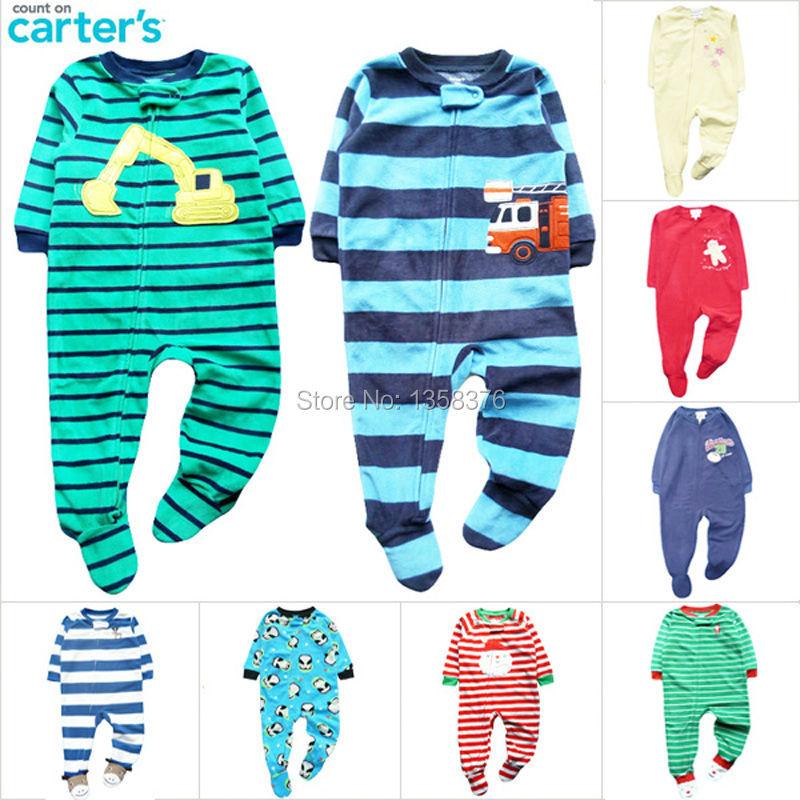 Carter S Fleece Zip Up Baby Romper Baby One Piece