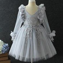 Filles Partie Robe 2017 Fille Élégante Longue Robe De Soirée De Noël Costume De Mariage Enfants Robes Pour Les Adolescents robe Filles Vêtements
