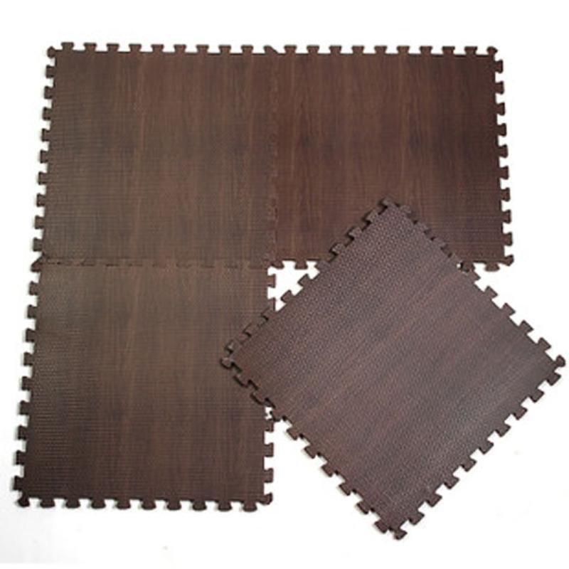 9pcs/lot EVA Wood Grain Ground Mat Interlocking Exercise Tiles Floor Carpet Rug for Kids Protective ,Each 30cmX30cm,1cm Thick