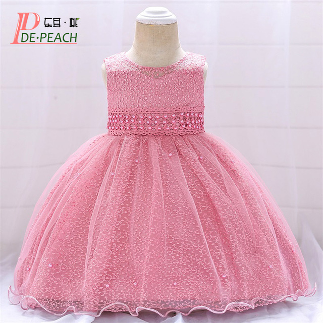 2a4ec8e21c034 US $11.99 40% OFF|Aliexpress.com : Buy DE PEACH 2019 Infant Toddler Dress  Baby Girl Dresses For Wedding Party Birthday Christening Gowns Baby  Princess ...