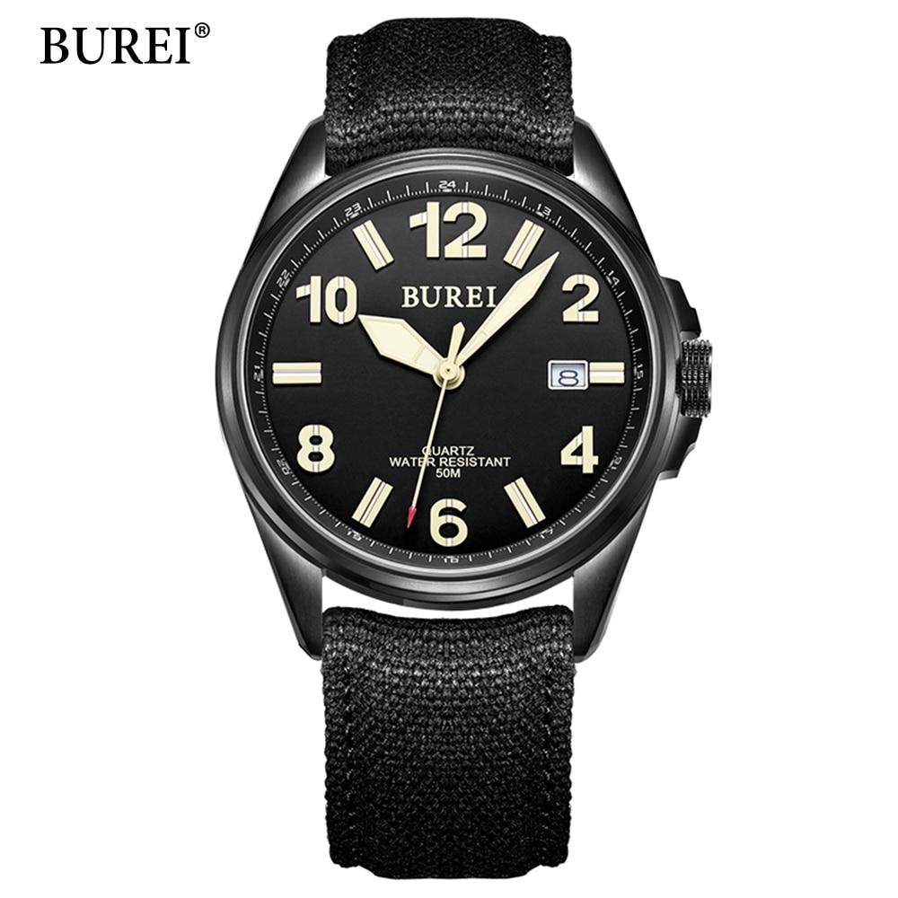 BUREI Wrristwatch Wrist Watch Men 2017 Top Brand Luxury Famous Male Clock Quartz Watch Hodinky Quartz-watch Relogio Masculino соковыжималка для цитрусовых scarlett sc je50c03