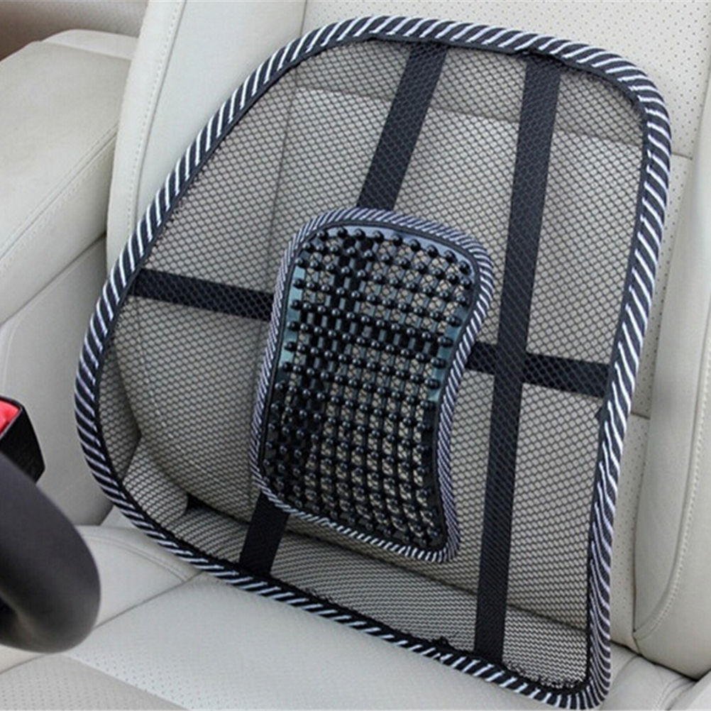 1pc Massage Vent Mesh Lumbar Lower Back Brace Support Car ...