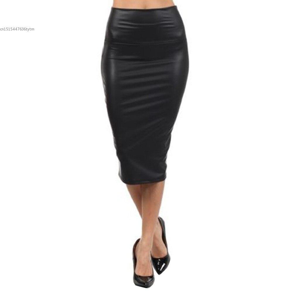 Faux Leather Pencil Skirt Promotion-Shop for Promotional Faux ...