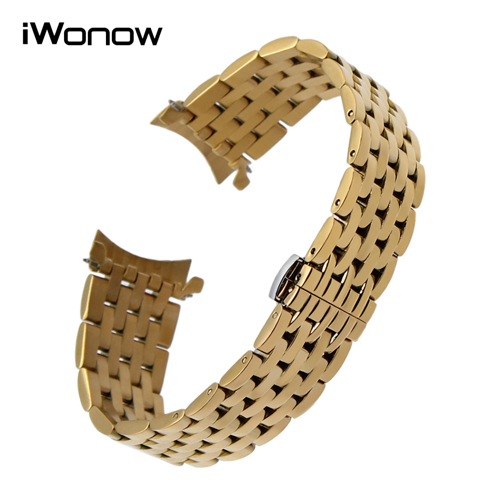 Curved End Stainless Steel Watchband for Tissot Longines Hamilton Watch Band Butterfly Clasp Strap Wrist Bracelet 18mm 20mm 22mm curved end stainless steel watchband for rado men women watch band wrist strap butterfly clasp belt bracelet 18mm 20mm 22mm 24mm