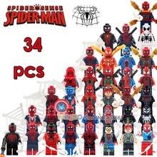 50 шт./лот Человек-паук для выпускного вечера Marvel Супер Герои коллекция экшн развивающие строительные блоки детские подарочные игрушки