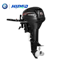HIDEA Hot Selling Water Cooled 2 stroke 15 HP Marine Engine Outboard Motor For Boats long shaft