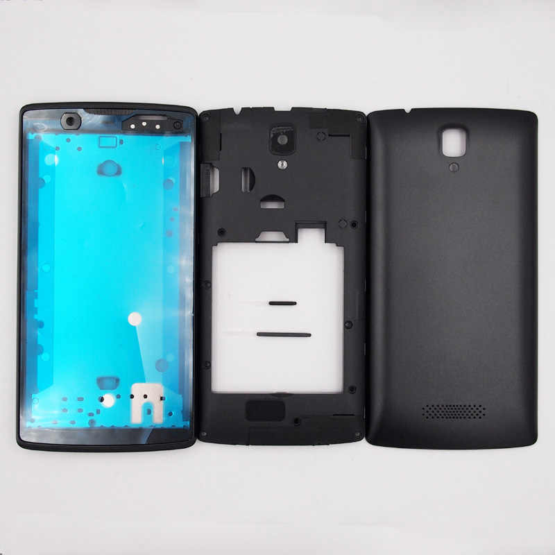 BaanSam New Front Frame Middle Frame Battery Door Back Cover Housing Case For Lenovo A2580 A2010 With Power Volume Buttons