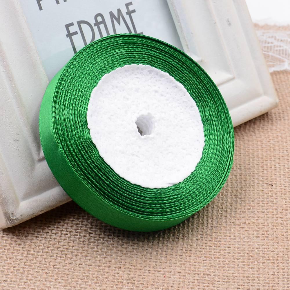 Ткань 10 мм 25 ярдов Белый Шелковый Атласный органза полиэстер лента для шитья Свадебная вечеринка украшение тесьма для рукоделия Подарочный упаковочный пояс - Цвет: 20