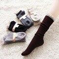 As mulheres Atam Joelho Alta Malha Para Baixo Plana Rendas de Croché Guarnição Polainas Bota Socks