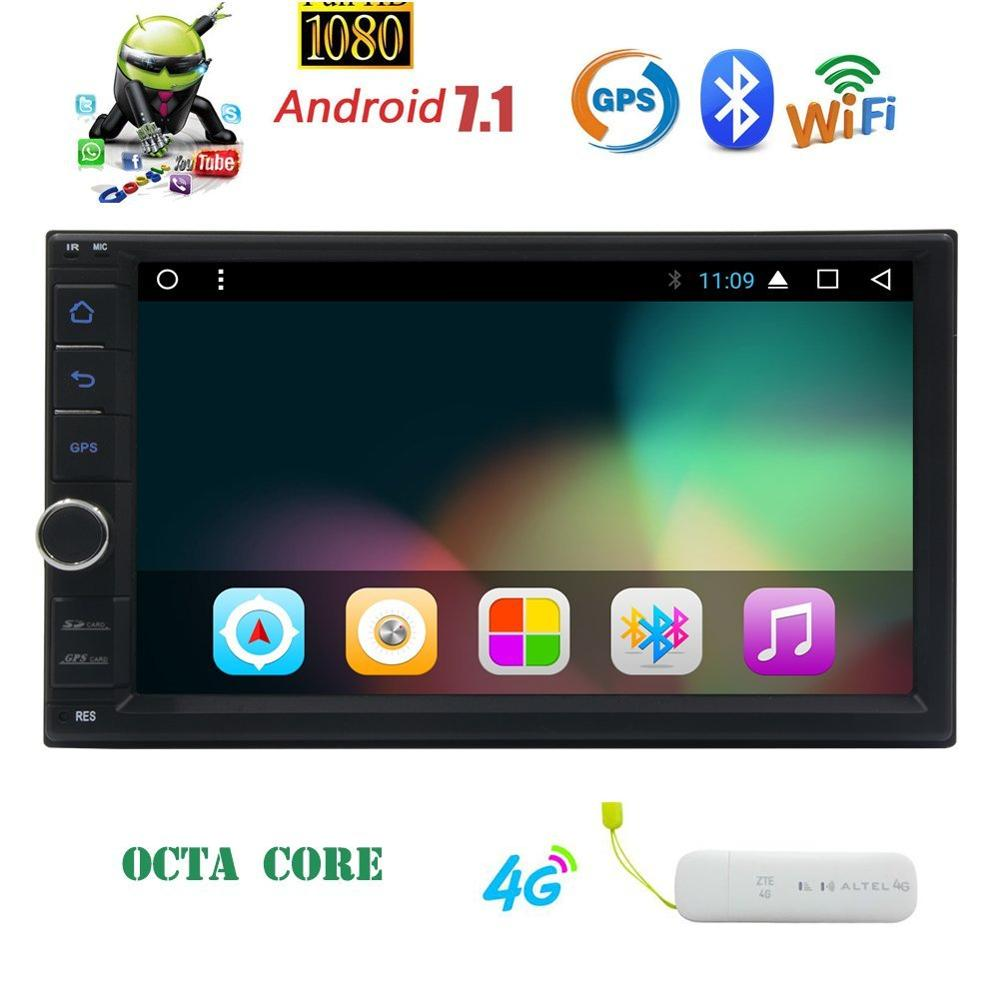Android 7 1 Octa Core Car Stereo in Dash GPS Navigation font b Radio b font