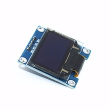 """100 ชิ้นสีขาว/สีเหลือง/สีฟ้า 0.96 OLED 128X64 128*64 OLED LCD โมดูลจอแสดงผล LED สำหรับ 0.96 """"I2C IIC สำหรับ Arduino Raspberry Pi"""