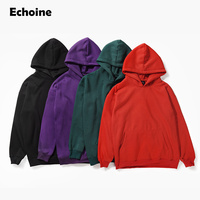 2018 Purple Winter Hoodies Solid Fleece Hoody Thick Sweatshirts Men Hip Hop Pullover Harajuku Hoodie Male Fashion Casual Top
