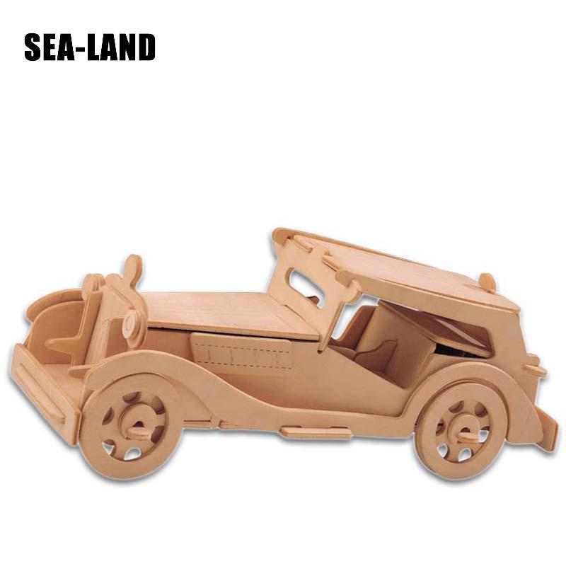 Djeca Igračke Drveni 3D Puzzle Za Djecu Beat-up Car Montessori - Igre i zagonetke - Foto 5
