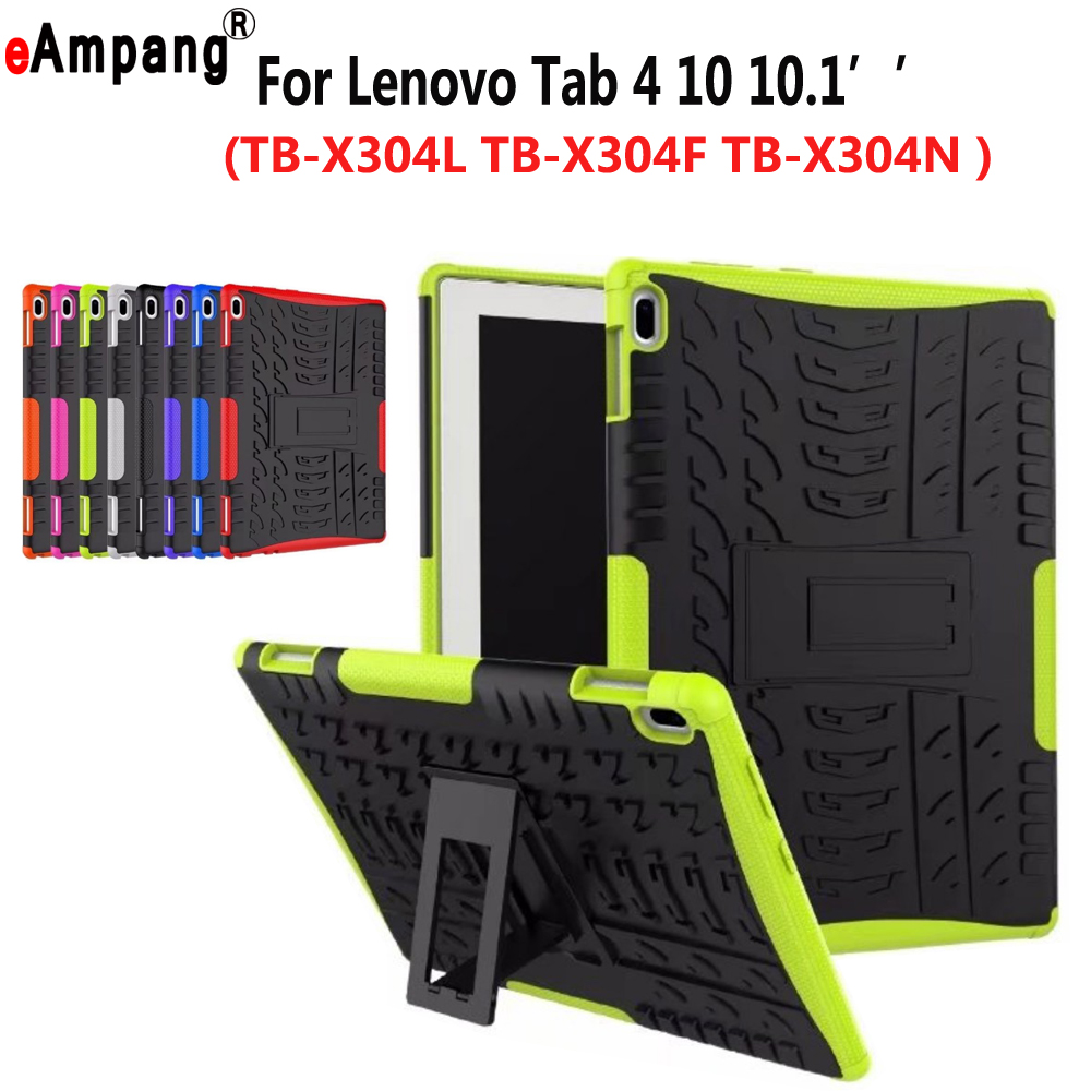 Case For Lenovo Tab4 Tab 4 10 10.1 ' TB-X304L TB-X304F TB-X304N Cover Funda Tablet Hyun Silicone Hard PC Shockproof Stand Shell