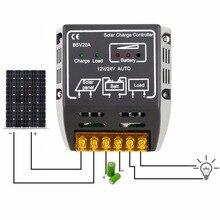 20A 12V/24V Solar Panel Battery Regulator Charge Controller Regulator Safe Protecting Solar Regulator For Solar Panel System Use