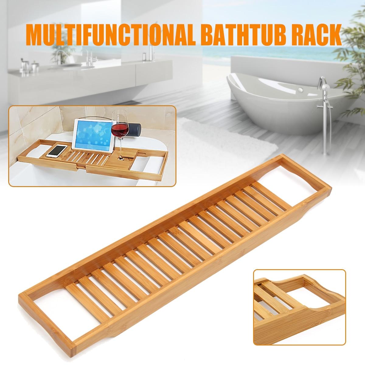 Luxury Bathroom Bamboo Bath Shelf Bath Tray Bathtub Holder Bridge ...