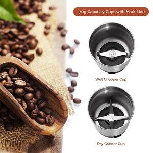 Image 4 - Macinacaffè elettrico Easehold 200W corpo in acciaio inossidabile grande capacità per macinacaffè sale macinacaffè potente