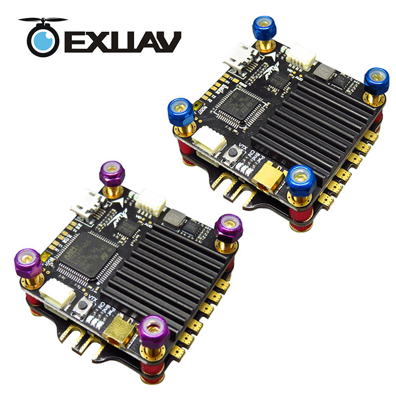 EXUAV Flytower PRO V2 F3/F4 4 in 1 ESC FC&VTX Board integrated integrated OSD,Adjustable VTX Design For Racing Drone 1pcs ocday new edition hglrc f3 acro v2 2 flight control v2 1 revision integrated osd