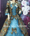 purple/green/red/blue/orange 7color choice medieval dress Renaissance Gown  Victorian /Marie Antoinette/ Belle Ball dress