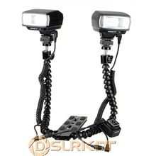 Macro Shooting Dual-arm Bracket and Mini Flash Pc sync Set for Nikon(China)
