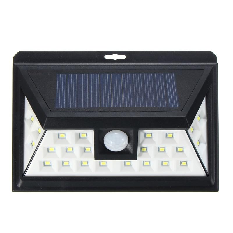 24 LED Solar Light Outdoor LED Garden Light White Light PIR Motion Sensor Solar Power Security