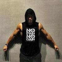 Camiseta sin mangas de algodón para hombre, para Fitness Camisa sin mangas, culturismo, chaleco de gimnasio