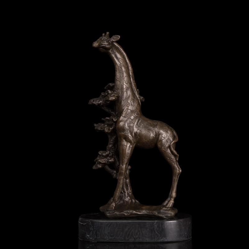 100% Bronze Baby Giraffe Statues For Park Decor Animal