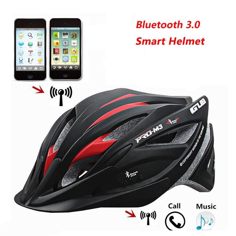 GUB Intelligent Bluetooth Cycling Helmet With Headset MTB Road Bike Cycliing Smart Safe Cap 52-62cm Bandana Ciclismo gub sv6 colorful bicyle bike helmet capacete free size casco ciclismo helmet colorful