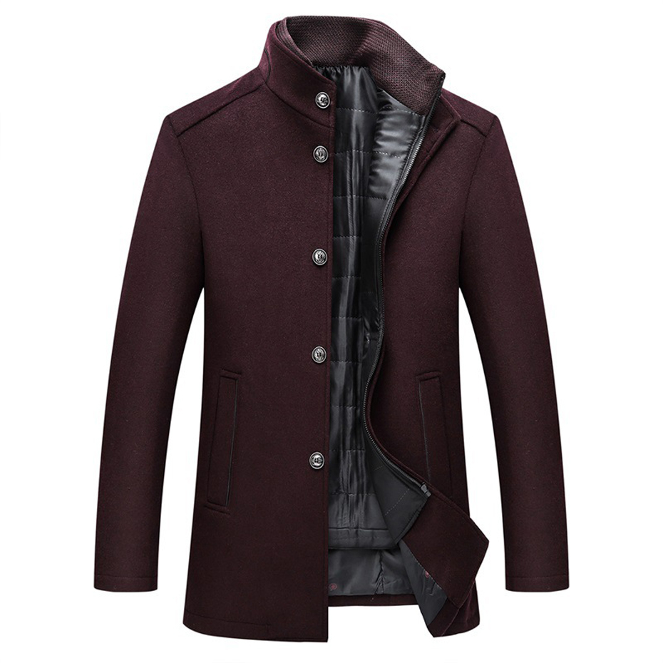 Holyrising Wool Coat Men Thick Overcoats Topcoat Mens Single Breasted Coats And Jackets With Adjustable Vest 4 Colours M-3XL