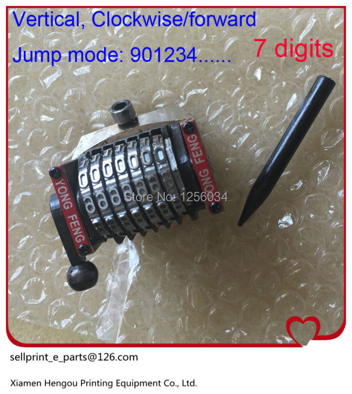 2 pieces free shipping 7 digits gto heidelberg Numbering machine Clockwise, 901234....forward