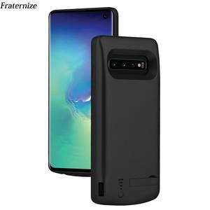 Image 1 - Schokbestendig battery charger case Voor Samsung Galaxy S10 Plus S10e Batterij power pack Backup USB Opladen power bank batterij gevallen
