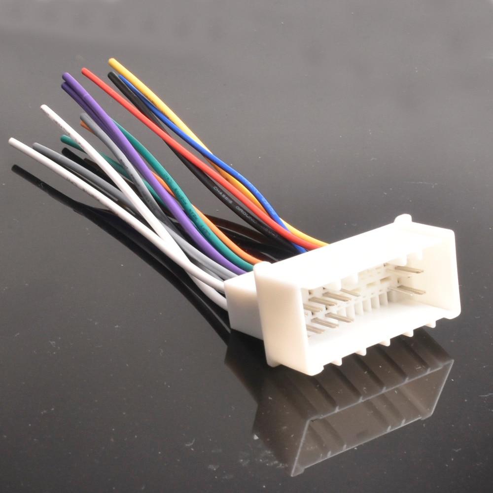 car dvd player power wire cable plug female for hyundai elantra for kia 2005 2006 2007 2008 plugs into radio din [ 1000 x 1000 Pixel ]