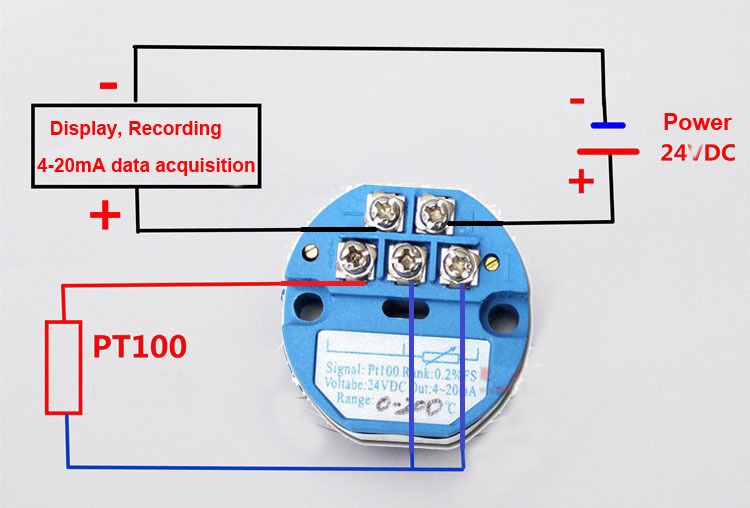 RTD PT100 to 4 20mA Converter Module RTD PT100 Temperature Transmitter PT100 to Current Converter Zero 4 wire transmitter connection diagram efcaviation com 4 20ma wiring diagram at webbmarketing.co