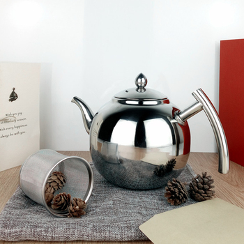 Stainless Steel Teapot Coffee Tea Kettle Loose Leaf Teapot with Infuser 1L 1.5L 2L 5