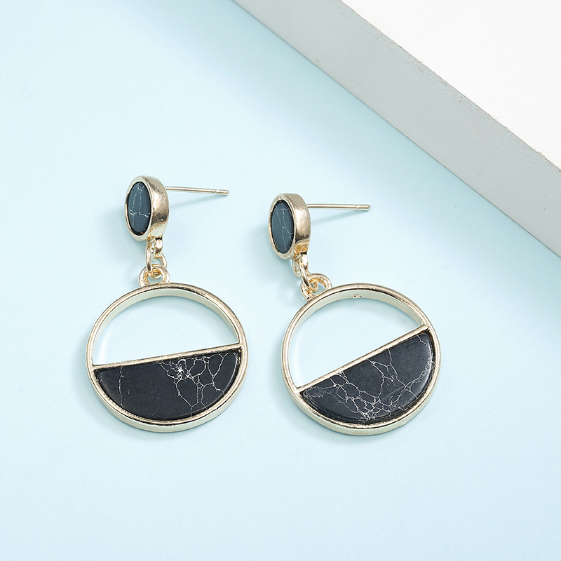Simple Style Fashion Silver Gold Color Earrings for Women Square Round Geometric Hanging Earrings 18 Female Pendientes Jewelry 35