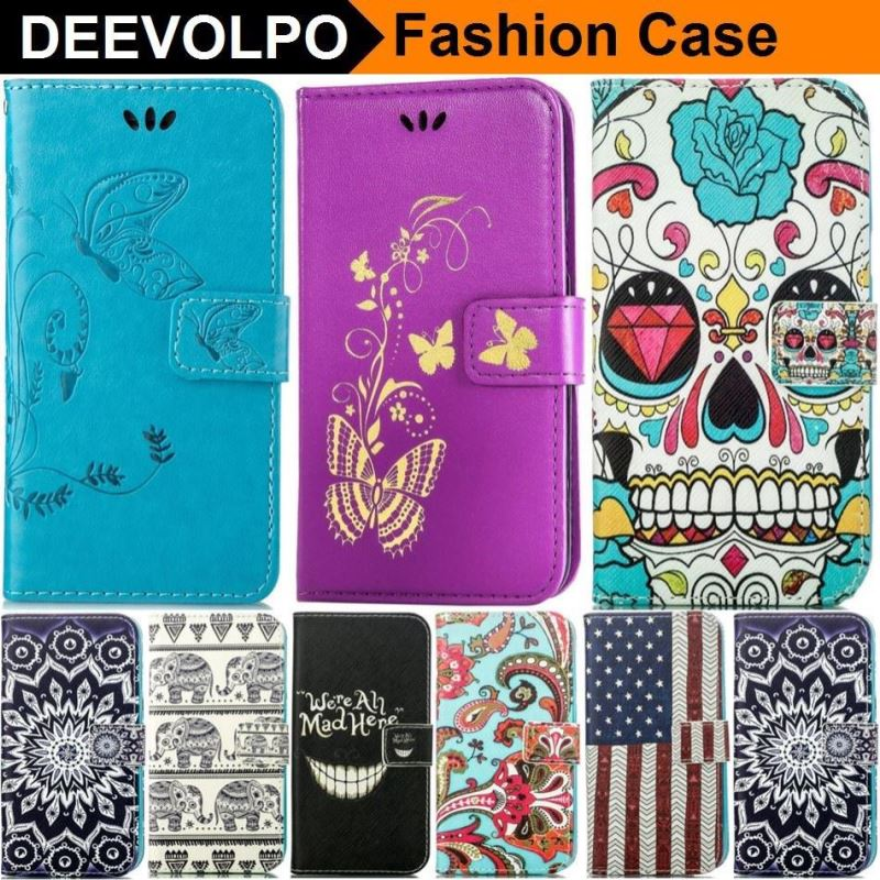 DEEVOLPO Case For Apple iphone X 8 7 6 6S Plus 5S SE Touch 6 7Plus 6Plus 8Plus PU Leather Silicone Holder Butterfly Cover D02Z