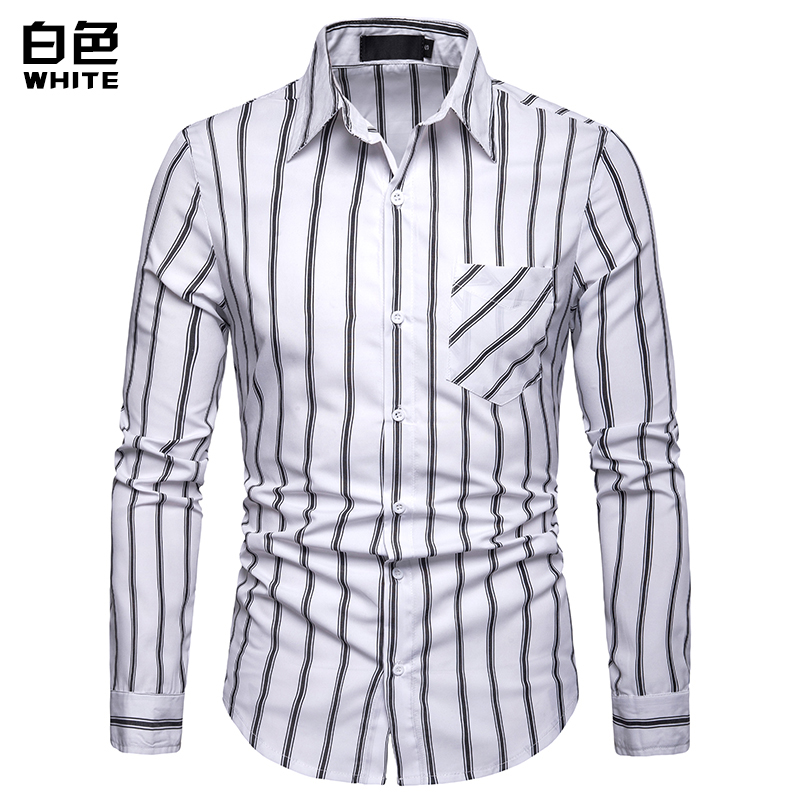 Fashion new 2019 men 39 s long sleeved shirt men 39 s striped classic casual comfortable Slim button shirt men 39 s shirt in Casual Shirts from Men 39 s Clothing