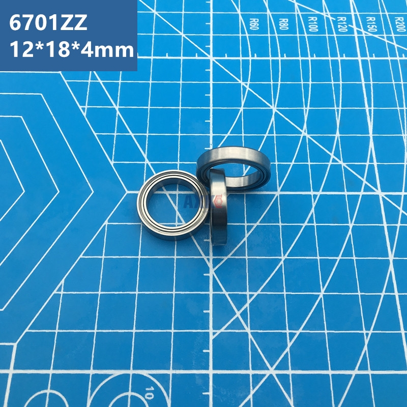 Free Shipping 20pcs ABEC-5 6701ZZ Bearing (12*18*4 Mm) Thin Wall Section 6701 ZZ Deep Groove Ball Bearings 61701ZZ 6701Z